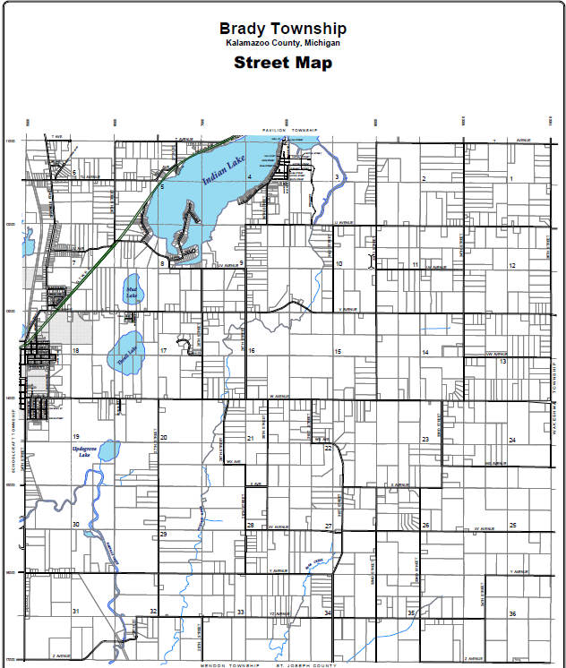 Road Maps Of Michigan Map.Township Maps Brady Township